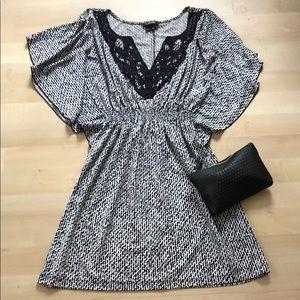 Black & white printed dress
